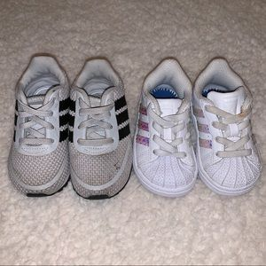 Adidas infant shoes, size 4, superstar